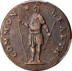 1788 Massachusetts Cent. Ryder 6-N, W-6240. Rarity-3-. No Period After MASSACHUSETTS. EF-45 (PCGS).