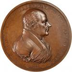 1825 John Quincy Adams Indian Peace Medal. Bronzed Copper. 75.8 mm. Julian IP-11. First Reverse. Min