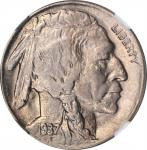 1937-D Buffalo Nickel. FS-901. 3-Legged. MS-62 (NGC).
