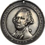 1789 (ca. 1890) George Washington Private Indian Peace Medal. White Metal. 63 mm. Prucha-64, Baker-1