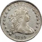 1795 Draped Bust Silver Dollar. BB-52, B-15. Rarity-2. Centered Bust. AU Details--Cleaning (PCGS).