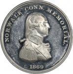 1869 Norwalk Memorial medal. Musante GW-810, Baker-369C, HK-Unlisted, socalleddollar.com-156. White
