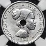 LAOS ラオス Piefort Essai 10Cents 1952 NGC-MS62 -UNC