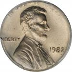 1982 Lincoln Cent. Large Date--Struck on a Copper-Nickel Clad Dime Planchet--MS-65 (PCGS).