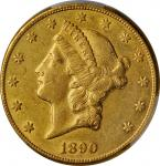 1890-CC Liberty Head Double Eagle. AU Details--Altered Surfaces (PCGS).