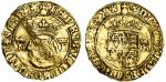 Henry VIII (1509-47), Crown, Bristol, third coinage, 2.95g, mm. -/WS, henric?viii rosa sine. spina ,