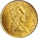 ITALY. Milan. Sovrano, 1800-M. Francis II. PCGS AU-58.