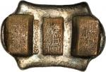 CHINA. Yunnan Sanchuo Jieding. Provincial Three-Stamp Remittance Ingots. 4 1/4 Tael Bank Ingot, ND.