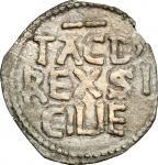 Monete e Medaglie di Zecche Italiane, Palermo.  Tancredi (1189-1194).. Quarto di tercenario. Sp. 137