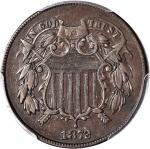1872 Two-Cent Piece. EF-45 (PCGS).