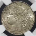 FRANCE 3rd Rep 第三共和政(1870~1940) Franc 1888A NGC-MS63 UNC
