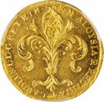 ITALY. Tuscany. Ruspone (3 Zecchini), 1805. Charles Louis. PCGS MS-62 Gold Shield.