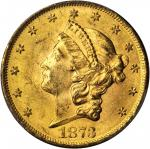 1873 Liberty Head Double Eagle. Open 3. MS-62 (PCGS). CAC.