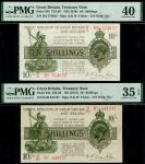 Treasury Series, N.F.Warren-Fisher, first issue, 10 shillings (2), ND (30 September 1919), red seria
