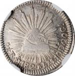 MEXICO. 1/2 Real, 1824-Mo JM. Mexico City Mint. NGC EF-45.