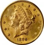 1896-S Liberty Head Double Eagle. MS-64 (PCGS). CAC.