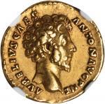 MARCUS AURELIUS AS CAESAR, A.D. 139-161. AV Aureus (7.29 gms), Rome Mint, ca. A.D. 156-157. NGC Ch E