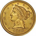1854-S自由帽半鹰 PCGS AU 58+