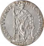 1795年荷兰乌得勒支3古尔登。NETHERLANDS. Utrecht. 3 Gulden (60 Stuiver), 1795. PCGS Genuine--Cleaned, AU Details