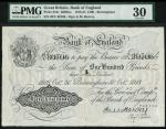 Bank of England, E.M. Harvey, £100, Birmingham 30 October 1918, serial number 28Y 80706, black and w