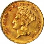 1883 Three-Dollar Gold Piece. MS-63 (PCGS).