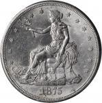 1875-S Trade Dollar. Type I/I--Chopmark--MS-61 (PCGS).