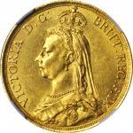 1887年英国2镑 GREAT BRITAIN. 2 Pounds, 1887. Victoria. NGC MS-61.
