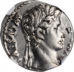 AUGUSTUS, 27 B.C.- A.D. 14. AR Denarius (3.84 gms), Lugdunum Mint, 8 B.C. NGC AU, Strike: 4/5 Surfac