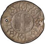 China - Tibet. TIBET: AR su cakra vijaya tangka, ND (ca. 1763-85), Cr-A10, inscription in Tibetan Se