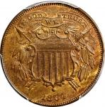1864 Two-Cent Piece. FS-401. Small Motto. MS-64 BN (PCGS). CAC.