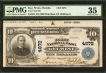 1902佛罗里达基韦斯特10美元 PMG Choice VF 35