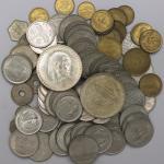 EGYPT エジプト クラウンサイズ银货2枚を含む:主に异种の白铜货、黄铜货等   计96枚组 96pcs 返品不可 要下见 Sold as is No returns 状态混合だが主に未使用品