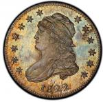 1822 Capped Bust Quarter. Browning-2. Rarity-5. 25/50C Proof-65 (PCGS).PCGS Population: 3, 1 finer (