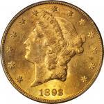 1893-CC Liberty Head Double Eagle. MS-62 (PCGS).