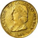 COLOMBIA. 1839-RU 16 Pesos. Popayán mint. Restrepo M212.5. MS-62 (PCGS).
