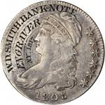 1808 Capped Bust Half Dollar. Engraved and Counterstamped. Extremely Fine.