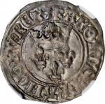 FRANCE. Gros Florette, ND (1417-22). Charles VI. NGC MS-63.