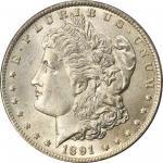 1891-CC Morgan Silver Dollar. VAM-3. Top 100 Variety. Spitting Eagle. MS-66 (PCGS).