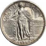 1916站立女神1/4美元 PCGS AU Details 1916 Standing Liberty Quarter