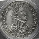"HOUSE OF HABSBURG Ferdinand II フェルディナンド2世(1619~37) Taler 1624 PCGS-AU Detail""Cleaned"" 洗浄 -EF"