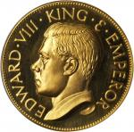 GREAT BRITAIN. Unofficial Medallic Crown in Gold, 1936. PCGS PROOF-67 DEEP CAMEO Secure Holder.