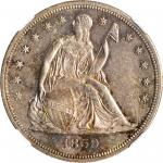 1859-S Liberty Seated Silver Dollar. MS-63 (NGC).