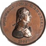 1869 Norwalk Memorial Medal. Copper. 38 mm. Musante GW-810, Baker-369A--Reverse Counterstamped C. NO