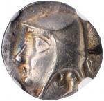 PARTHIA. Arsakes I, 247-211 B.C. AR Drachm (4.01 gms), Hekatompylos Mint. NGC AU, Strike: 4/5 Surfac