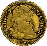 COLOMBIA. Escudo, 1788-SF. Popayan Mint. Charles III (1759-88). PCGS VF-30 Gold Shield.