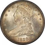 1836 Capped Bust Half Dollar. Graham Reiver-1. Rarity-2. Reeded Edge. 50 CENTS. Mint State-65+ (PCGS