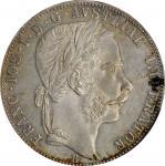 AUSTRIA. Florin, 1867-B. Kremnica Mint. Franz Joseph I. PCGS AU-58 Gold Shield.