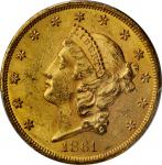 1861 Liberty Head Double Eagle. MS-62 (PCGS).