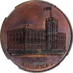 Undated (ca. 1862) United States Arsenal Medal. Without Sun. By J.A. Bolen. Copper. Musante JAB-4. M