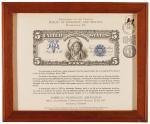 1977年美国钱币学会年会参与纪念钞一枚,由原版母模翻印,印量有限
